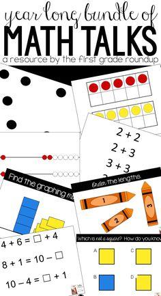 Digital Number Talks and Math Talks Bundle First Grade Lessons, Second Grade Math, Math Lessons, Grade 1, Kindergarten Math Activities, Teaching Math, Math Resources, Maths, Classroom Resources