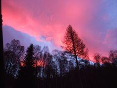 Sunset Above Pottery House Loch Ness B&B