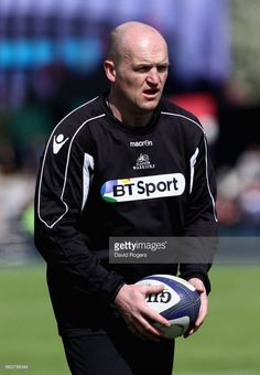 Gregor Townsend, the head coach of Glasgow Warriors, looks on during the European Rugby Champions Cup match between Saracens and Glasgow Warriors at the Allianz Stadium on April 2, 2017 in Barnet, United Kingdom.