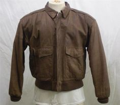 Vintage 80s Brown Leather Bomber Jacket... had one!