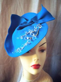 Millinery   Designer  Womens Felt Cocktail by katherinecareyhats, $225.00