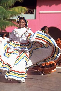 picture of Traditional Mexican Dancer Costa Maya Mexico Image