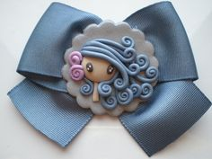 *SORRY, no information given as to product used ~ broche fimo by pillomimo,Elena Garcia Rizo on Flickr.