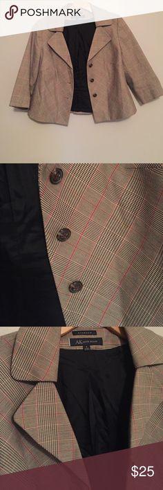 Selling this Anne Klein Cropped Plaid Jacket on Poshmark! My username is: mcdonss. #shopmycloset #poshmark #fashion #shopping #style #forsale #Anne Klein #Jackets & Blazers