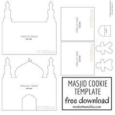 Want to make something fun and festive for the table at Eid? Try this chocolate cookie masjid with instructions, recipes and template. Eid Crafts, Ramadan Crafts, Diy Crafts For Gifts, Decoraciones Ramadan, Eid Activities, Diy For Kids, Crafts For Kids, Gingerbread House Kits, Disney Cars Party