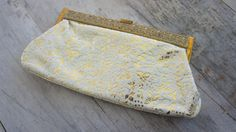 30s40s Small White and Gold Clutch by SycamoreVintage on Etsy, $29.00