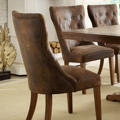 Atelier Oak Finish Dining Chairs (Set of 2) | Overstock.com