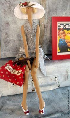 Купить кукла тильда ручной работы  Хочу на море! - ярко-красный, тильда кукла
