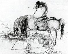 Salvador Dali, Don Chisciotte della Mancia Salvador Dali, Dali Quotes, Dom Quixote, Dali Paintings, Spanish Artists, Magritte, Human Art, Art Moderne, Fantastic Art