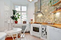 BlogTendenciasyDecoración: Apartamento en Estocolmo, en tonos verdes