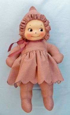 """Rose O'Neill Cuddle Kewpie 16"""" Cloth Kewpie Doll"""