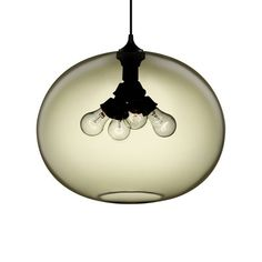 Terra Modern Pendant Light in Smoke by Niche  | Niche lighting develops each model in many chic shades of colored glass!