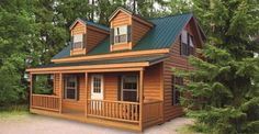 If You Love Log Homes and Don't Want to Spend a Ton of Money, Prefab Log Cabins Like This One Are Fantastic