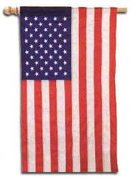 About the Design Traditional American patriotic decorative house flag have the traditional construction with each stripe sewn individually and the stars sewn in. About the Flag Evergreen Appliqued House Flags are hand crafted, deluxe applique flags made of high quality nylon fabric. Evergreen Appliqued flags feature bold, vibrant designs constructed using tight, detailed stitching. Appliqued Flags are made of soft, yet heavyweight material that shines beautifully in sunlight. Evergreen house fla House Flag Pole, House Flags, Evergreen House, Evergreen Garden, American Flag Photos, American Houses, Garden Flags, Applique, Vibrant