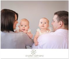 Twin baby girls 6 months | Moscow, PA baby photographer » Northeast, PA Photographer Crystal Satriano Photography, Location and Studio Photographer, Moscow Senior Photographer, Scranton Newborn Photographer, Honesdale Family Photography