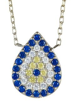 Teardrop Evil Eye Pendant Necklace by Bansri on @HauteLook