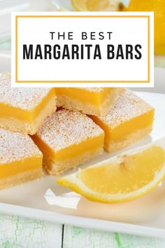 Margarita Bars. Planning a bash south of the border? Save the tequila for dessert and sink your teeth into tart margarita bars that are bursting with lime and coconut flavors.