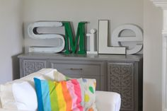 Sign letters...love it