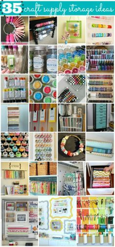35 craft room organization ideas