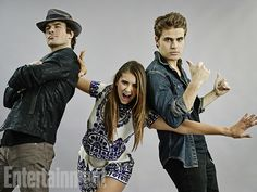 Ian Somerhalder, Nina Dobrev, and Paul Wesley, The Vampire Diaries San Diego Comic-Con 2014