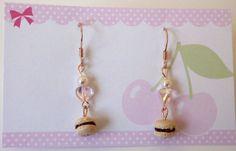 Macaron Earrings  Kawaii Deco Sweets/ by HoriSweetsandFaeries, ¥1200