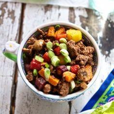 Thai Beef Lettuce Cups. {gluten free + grain free recipe}