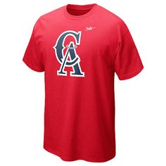 cb6b0cc6 Los Angeles Angels of Anaheim Cooperstown Dugout Logo T-Shirt 12 by Nike  Angels Baseball