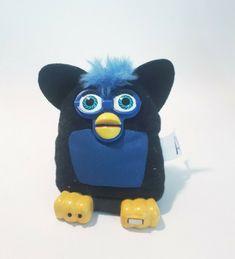black & blue Furby plushy stuffed animal, used in VGC #McDonalds Childrens Bedrooms Boys, Blue Dog, Mcdonalds, Plushies, Pet Toys, Minions, Religion, Future, Animals