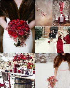 Classic red for your winter wedding theme Christmas Wedding Flowers, Red Wedding Decorations, Dream Wedding, Wedding Day, Wedding Stuff, Winter Wonderland Wedding, Winter Wedding Inspiration, Bridal Flowers, Wedding Details