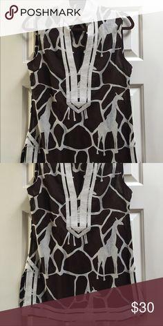 Tory Burch tunic Giraffe print is on trend!! Tory Burch Tops Tunics
