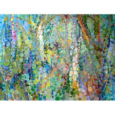 Found it at AllModern - 'Abstract Woodland' by Angelo Franco Painting Print on Wrapped Canvas