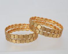 Indian Bollywood Gold Plated Lakshmi Ginni Coin Fashion Bangles set of 4 pcs