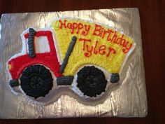 Excellent Picture of Dump Truck Birthday Cake . Dump Truck Birthday Cake Karas Cookies Gallery Of Cakes Boys Birthday Cakes Easy, Truck Birthday Cakes, Monster Truck Birthday, Happy Birthday Cakes, 2nd Birthday, Dump Truck Cakes, Cake Decorating For Kids, Hot Dog Recipes, Dog Cakes