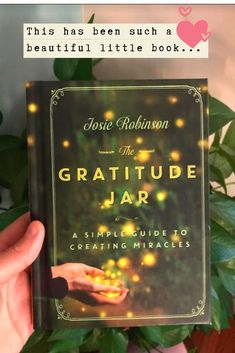 Everyone needs to read this beautiful little gratitude book. ❤️ // The Gratitude Jar: A Simple Guide to Creating Miracles Gratitude Book, Gratitude Quotes, Life Changing Books, Little Books, Wisdom, Reading, Simple, Beautiful, Reading Books