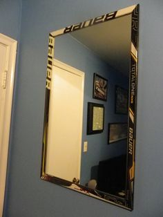 20 x 33 Bauer Hockey Stick Wall Mirror for by legendglassdesigns