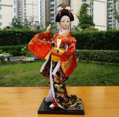 12'' Tall Japanese geisha doll Kimono Kabuki Maiko Girl's day gift-geisha 28