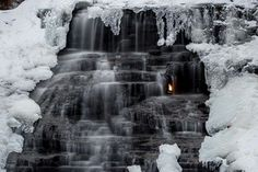 West of Buffalo - Eternal Flame Falls at Chestnut Ridge County Park