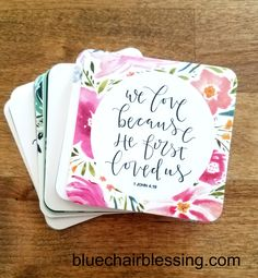 Mini scripture cards! http://www.bluechairblessing.com