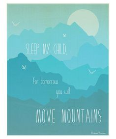 'Move Mountains' Print 	   Children Inspire Design