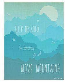 'Move Mountains' Print    Children Inspire Design