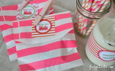 Free Girl Train Party Printables by Poofy Cheeks