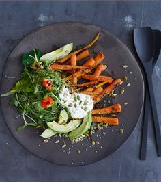 Carrot and Avocado Salad with Crunchy Seeds