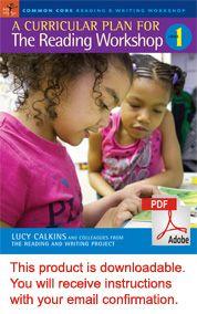 Reading Workshop-Lucy Calkins