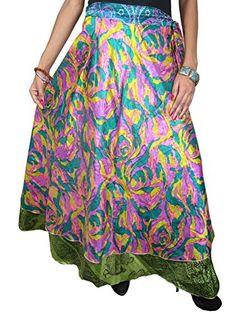 Womens Long Wrap Skirt Blue Pink Silk Sari Reversible Wrap Around Skirt Mogul Interior http://www.amazon.com/dp/B00P3MZ95G/ref=cm_sw_r_pi_dp_a5lvub1QBP2DC