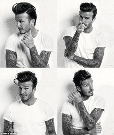 Beckham covers the March issue of Men's Health UK in the editorial I Am David . Photography by Doug Inglish. Cabelo David Beckham, Pretty People, Beautiful People, Fashion Business, Hommes Sexy, Body Modifications, Belle Photo, Gorgeous Men, Beautiful Beautiful