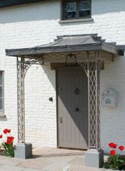 Wrought iron porch