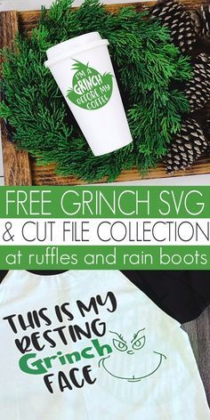 These free Grinch SVGs are a great addition to your Christmas cut file collection. Click through to get so many free Christmas cut files now. Cricut Christmas Ideas, Merry Christmas, Diy Christmas Gifts, Christmas Projects, Christmas Vinyl Crafts, Holiday Crafts, Le Grinch, Grinch Svg Free, Grinch Cricut