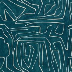 kelly wearstler fabric :: groundworks grafitto teal/pearl