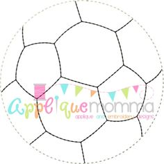 Soccer Ball Vintage Embroidery Design