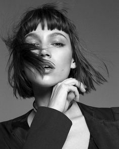 After all, love is a good reason to make everything go wrong. Ursula Corbero Get inspired with Photography Women, Portrait Photography, Color Photography, Art Visage, Baby Bangs, Black N White Images, Black And White Photography, Pretty People, Brows